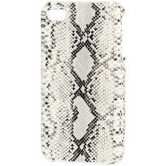 H&M iPhone 4/4s case (5.47 CAD) ❤ liked on Polyvore featuring accessories, tech accessories, iphone, phone cases, phone, case and snakeskin print