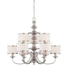Nuvo Lighting 60-4739 9 Light Candice Chandelier, Brushed Nickel
