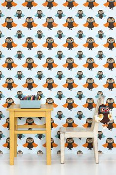 Owl kids wallpaper! Need to find this!