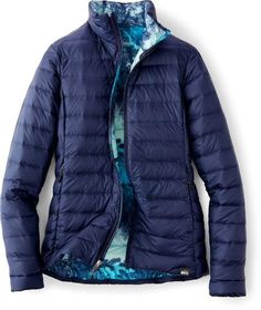 REI Co-op Down Jacket - Women's Maritime Navy/Print