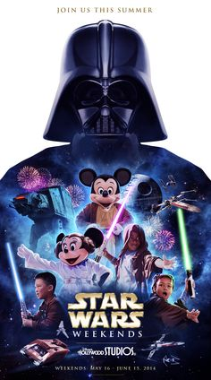 New poster for Star Wars Weekends at Walt Disney World. #jedi #Vader #vacation