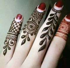Pattern on fingers