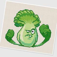 PDF Cross Stitch pattern 0295.Bonk Choy (Plants vs Zombies) by PDFcrossstitch