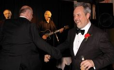 Stephen Maher and Glen McGregor celebrate their NNA win by dancing a jig to Bowser & Blue at the NNAs afterparty. They went on to win at Photo by Lois Siegel Journalism, Bowser, Dancing, Awards, Events, News, Celebrities, Party, Blue