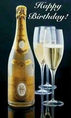 Happy Birthday - champagne - wine - cocktails Plus Roederer Champagne, Cristal Champagne, Champagne France, Champagne Bottles, Champagne Bar, Champagne Taste, Champagne Glasses, Don Perignon, Birthday Greetings