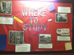 Where To Study @ Pitt bulletin board. So freshman have ideas of places to go other than the library!