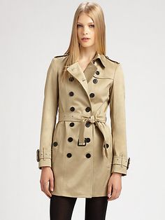 Burberry London - Westland Double-Breasted Trench - Saks.com