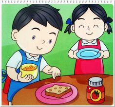 Action Verbs, School Clipart, School Posters, Picture Story, Cartoon Characters, Fictional Characters, Kindergarten Classroom, Sign Language, Cartoon Kids