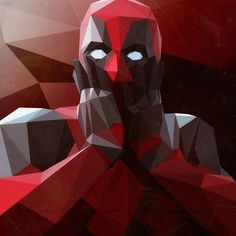 Low poly deadpool #art #lowpoly #deadpool #marvel Deadpool Art, Paint Chip Art, Low Poly, Marvel, Painting, Image, Painting Art, Paintings, Drawings