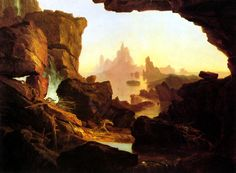 トマス・コール The Subsiding Waters of the Deluge Thomas Cole Smithsonian American Art Museum (and the Renwick Gallery) - Washington DC Caspar Wolf, Landscape Art, Landscape Paintings, Oil Paintings, Hudson River School, Google Art Project, Cool Landscapes, American Artists, Art Google