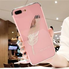 Mirror Pink soft cover case for iphone Iphone 6, Pink Iphone, Iphone Cases, Feather Fashion, Huawei Phones, Accessoires Iphone, Pink Phone Cases, Boost Mobile, Mobile Covers