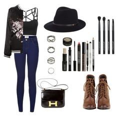 """""""Chilling, movies , or a date"""" by crystals-1 ❤ liked on Polyvore featuring Christian Dada, Lord & Berry, Japonesque, Hermès and rag & bone"""