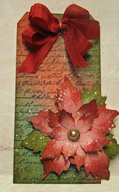 Beautiful Poinsettia Tag DSC02053