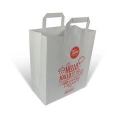 Printed Paper Bags With Flat Handles From Robinspkg Co Uk