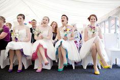 Ronnie & Craig's Cooler than Cool, Multi-Coloured DIY Wedding