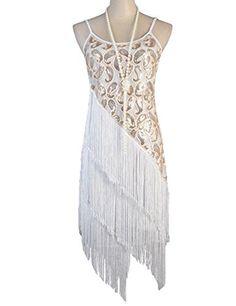 PrettyGuide Women's 1920S Paisley Art Deco Sequin Tassel Gatsby Flapper Costume Dress S/M White PrettyGuide http://www.amazon.com/dp/B00TDN1T9G/ref=cm_sw_r_pi_dp_.tfcvb0ES8X4M