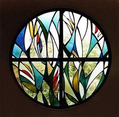 Stained Glass Window by NUZ # Art #stained # Artist at Betsy Frank Gallery #stainedglasswindow #artnuz