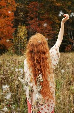 20  Long Red Curly Hair