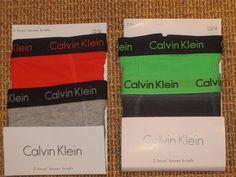 CALVIN  KLEIN  BOYS  12 / 14  BOXER  BRIEFS  LARGE  UNDERWEAR  4  PAIRS NEW #CalvinKlein #BoxerBriefs