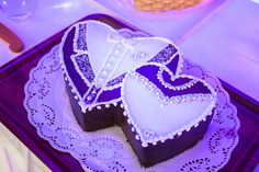 Manchester Wedding Photography: Detail of the heart shaped wedding cake.