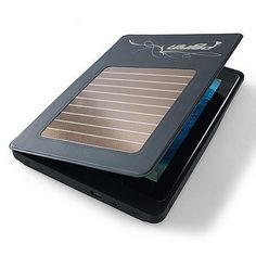"This Solar iPad Charging Case has a unique ""whistle locator"" — whistle, and it'll start beeping to make you aware of its location!"