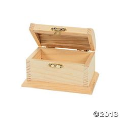Design Your Own Unfinished Wood Toy Boxes, Design Your Own, Crafts for Kids, Craft & Hobby Supplies - Oriental Trading