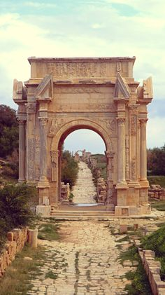 The Arch of Septimius Severus at Leptis Magna, Libya