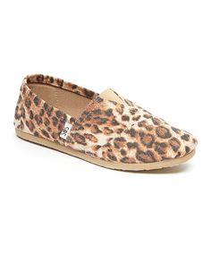 Loving this Tan Leopard Slip-On Shoe on #zulily! #zulilyfinds