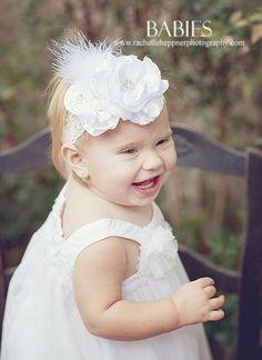 Glamour White Custom Couture Baby Headband