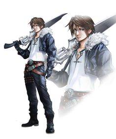 Here is a Fanart of Squall, my favorite character of FF. Final Fantasy Cosplay, Final Fantasy Characters, Final Fantasy Artwork, Final Fantasy Xiv, High Fantasy, Video Game Characters, Fantasy Series, Fantasy Rpg, Fantasy World