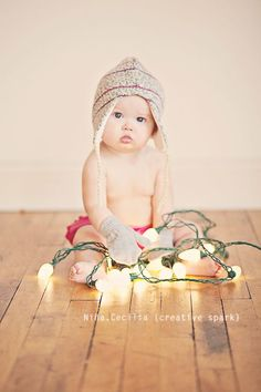 Oui Oui-ideas foto navidad bebe-niño con luces