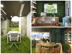 Gazon artificiel en intérieur de bureaux. #gazonsynthetique Plus d'information : http://www.gazonsynthetiqueiag.fr