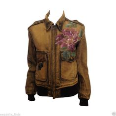 S S 2002 Rare Limited Edition TOM Ford FOR Gucci Hand Painted Leather Jacket | eBay