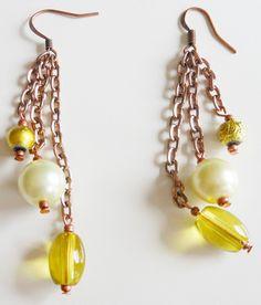 Chained Bead Earrings