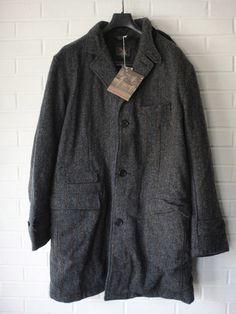 Woolrich Woolen Mills Wool Herringbone Down Filled Chesterfield Coat NWT | eBay