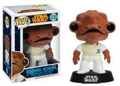 Amazon.com : Funko POP Star Wars: Admiral Ackbar Bobble Figure : Bobble Head Toy Figures : Toys & Games