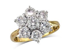 centre Colour F, Clarity - 1380030043 Diamond Cluster Ring, Diamond Rings, Diamond Engagement Rings, Diamond Jewelry, Jewellery Uk, Clarity, Centre, Colour, Style