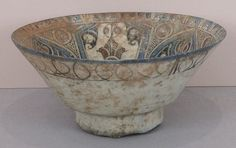 Bowl Date: late 12th–early 13th century Geography: Syria, probably Damascus Culture: Islamic Medium: Stonepaste; polychrome painted under transparent glaze
