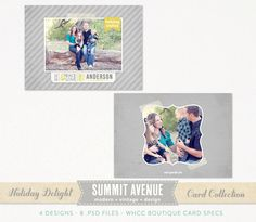 Holiday Delight 5 X 7 FLAT card Template for professional Photographers. $8.00, via Etsy.