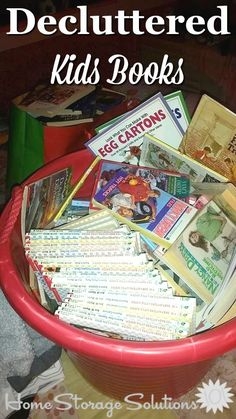 Decluttered kids books, shown by a reader, Heidi, who did this #Declutter365 mission {on Home Storage Solutions 101}