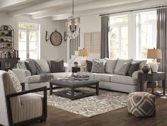 Get Ashley Furniture's Velletri Pewter Living Room Set with easy payment options from Coleman Furniture. Includes free in-home delivery and assembly. Living Room Grey, Living Room Sets, Home Living Room, Living Room Designs, Grey Living Room Furniture, Revere Pewter Living Room, Living Room Couches, Charcoal Living Rooms, Fixer Upper Living Room