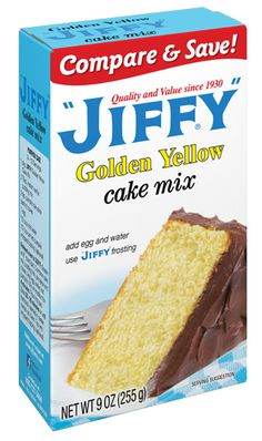 Jiffy Golden Yellow Cake Mix: 1 gram trans fat per serving (1/5 package)