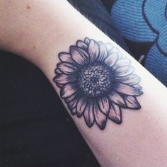 Sunflower tattoo for women