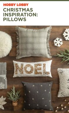 Make your home a warm, comfy wonderland during the holidays with festive pillows, available at your local Hobby Lobby®!