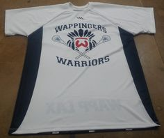 Team lacrosse shooter shirts made to order in Maryland USA.