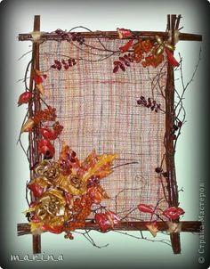 Картина панно рисунок Аппликация Коллаж Предыстория Панно Сказочная осень Дерево Жёлуди Листья фото 1