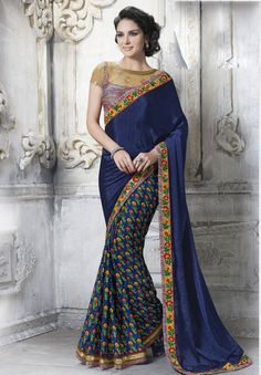 Blue Art Silk Party Wear Saree 63216