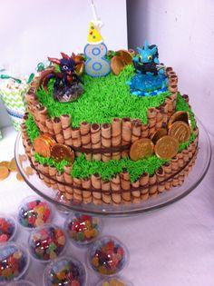 Pastel de Skylanders. Muy fácil de hacer! Skylanders cake