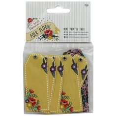 Folk Floral Mini Tags - Pack Of 10 | Card Making & Craft Embellishments at…