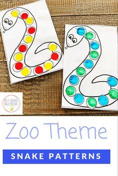 Snake Patterns- Zoo Preschool Math Activity
